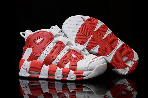 Air More Uptempo Shoes Red/white